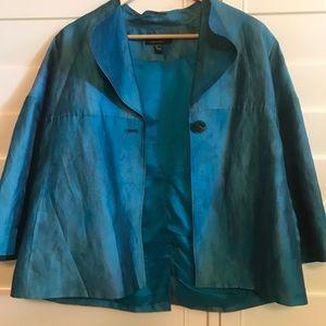LOUBIN blue green dichroic dinner jacket so 12